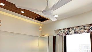 10'×10' Small Bedroom Interior Design !  Bedroom Premium Wardrobe, Bed, Dressing Design Idea !
