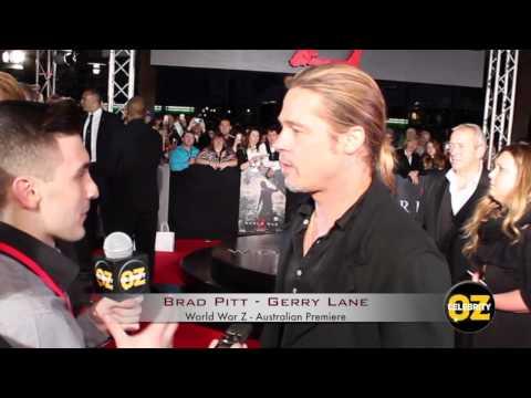 World War Z Australian Sydney Premiere Red Carpet Interviews Marc Forster & Brad Pitt