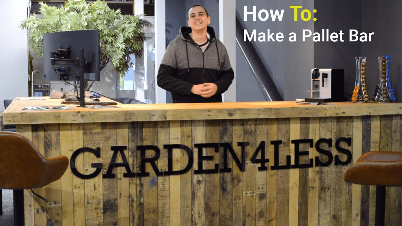 Make A Bar Out Of Pallet Wood How To Diy Youtube