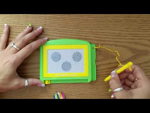 ASMR *NO TALKING* etch a sketch