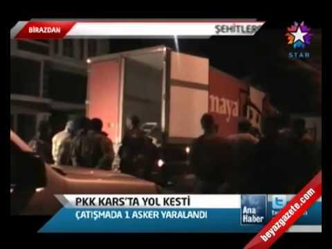 pkk karsta yol kesti. güvenlik güçleri operasyon başlattı. karsın kağızman ilçesi