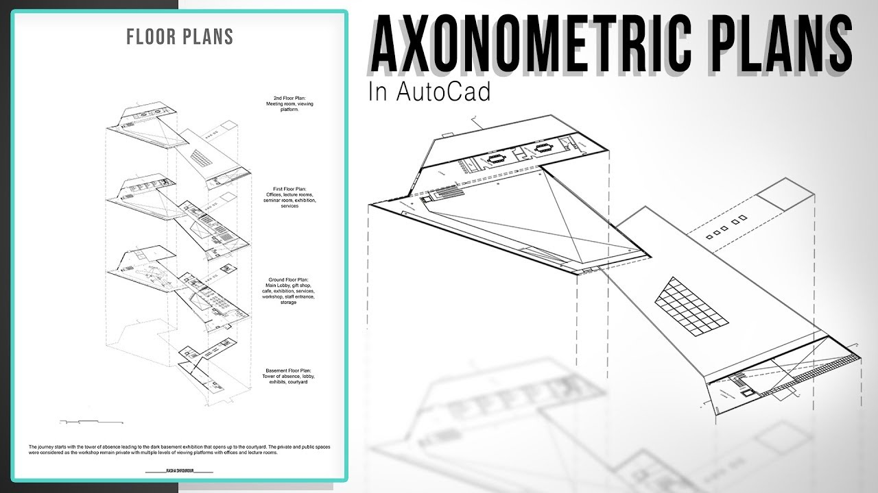 The Easiest Method To Layered Axonometric Plans In Autocad Youtube