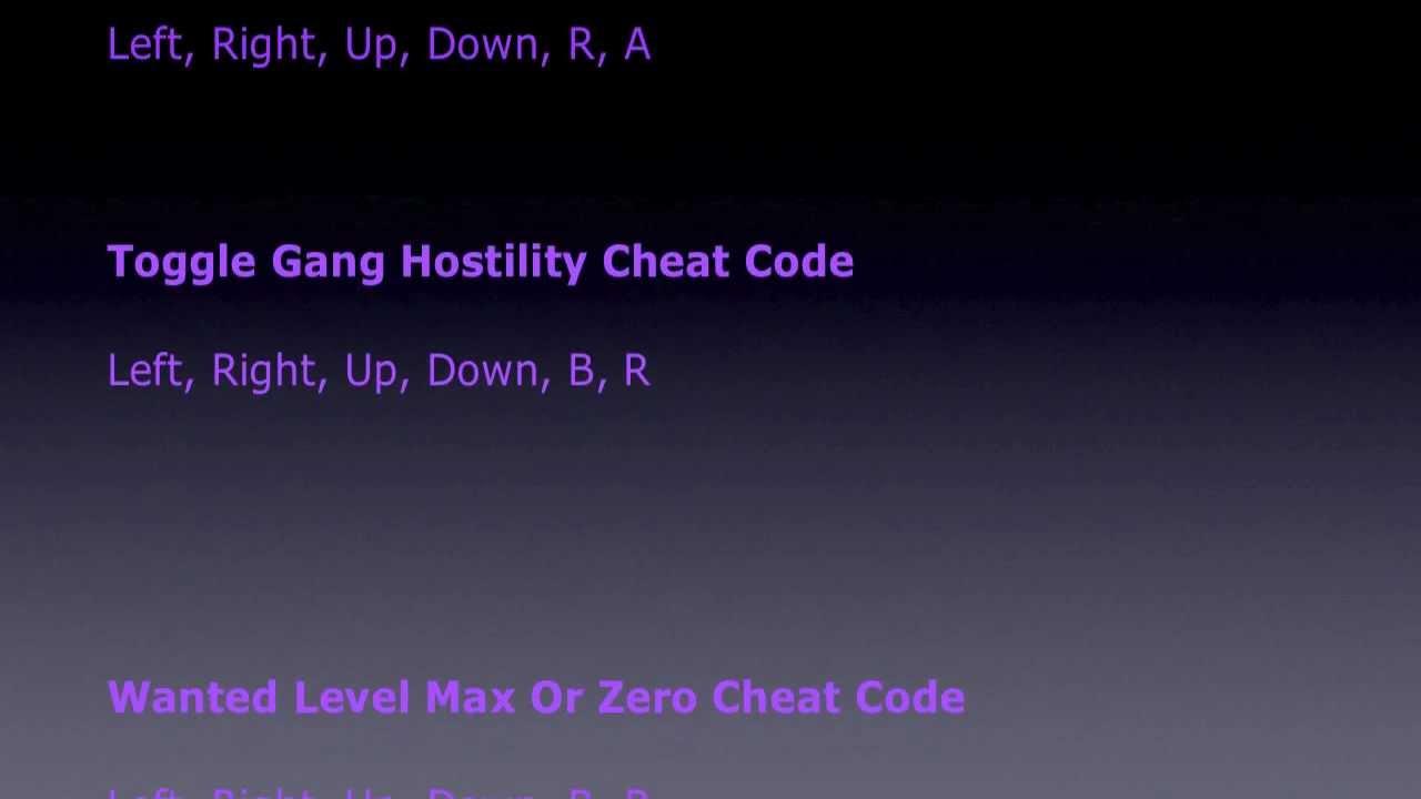 GTA Advance - All <b>Cheat Codes</b> (<b>GBA</b>) - YouTube