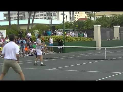 Ray Collins Surprises Novak Djokovic with a Trick Shot