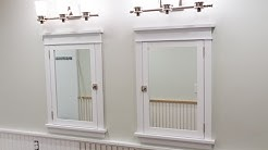 Building and Installing Craftsman Style Medicine Cabinets