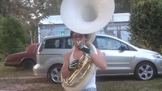 tuba fanfare 7 seven nation army funny moment