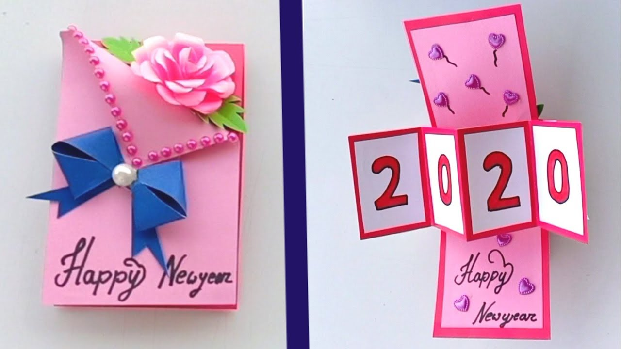 How To Make Happy New Year 2020 Greetings Card Video Tutorial