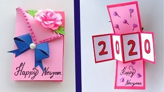 How to Make Happy New Year Card 2020 | New Year Greeting Cards Latest Design Handmade