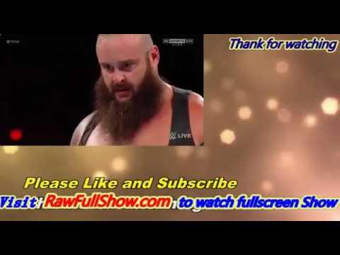 WWE Raw Roman Reigns vs Samoa Joe vs Braun Strongman 21 july 2017 , Credit: Gaming Official
