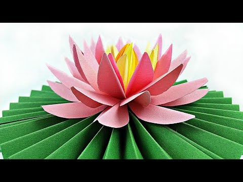 DIY paper flower Water Lily / arts and crafts flowers easy for kids / How to Make Beautiful Lotus