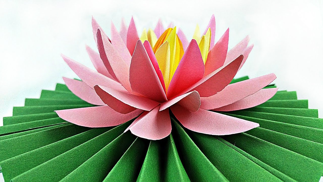 diy paper flower water lily    arts and crafts flowers easy