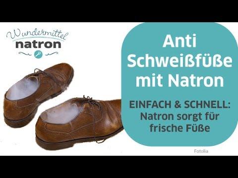 Anti Schweißfüße mit Natron - YouTube