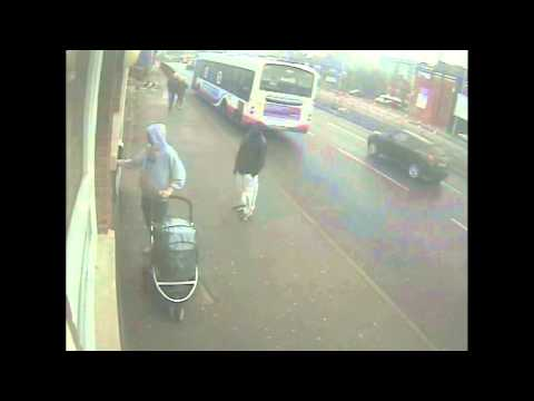 Robbery of man with push chair at cash machine - York Road -