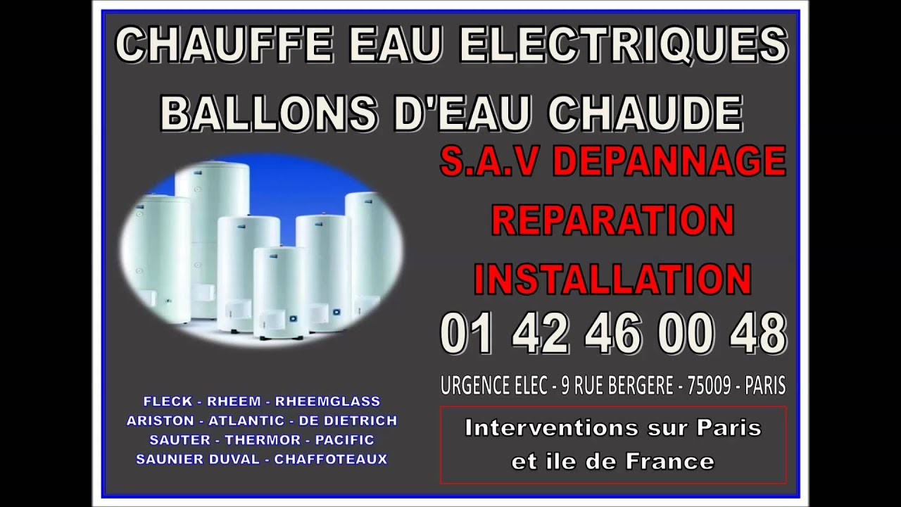 chaffoteaux et maury sav depannage chauffe eau electrique paris idf youtube. Black Bedroom Furniture Sets. Home Design Ideas