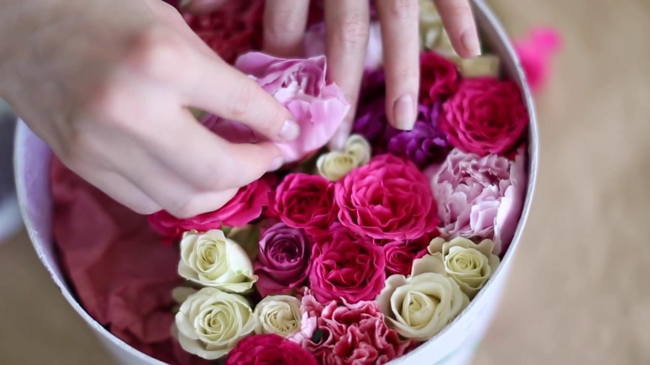 Как собрать корзинку цветов - YouTube