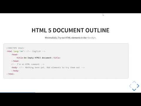 HTML1: Introduction To HTML5