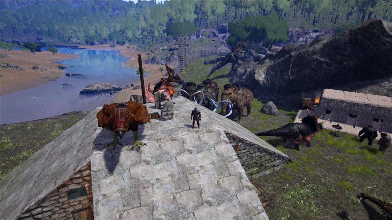 ARK: Survival Evolved #26 - Stone Base Basement ...