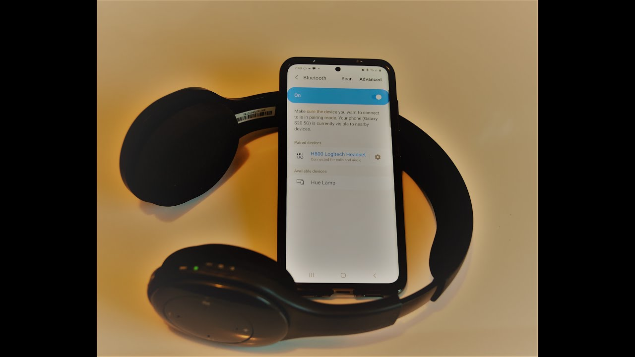 Logitech H800 Headset Bluetooth Pairing With Samsung Galaxy Smartphone Youtube