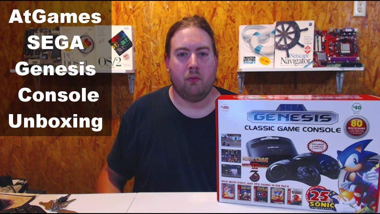 Atgames sega genesis classic console 2016 unboxing youtube - Atgames sega genesis classic game console game list ...