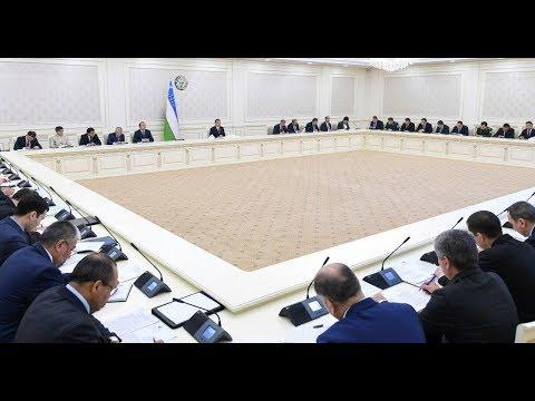 Prezident Shavkat Mirziyoyev 2019-yilning 22-fevral kuni videoselektor yig'ilishi o'tkazdi