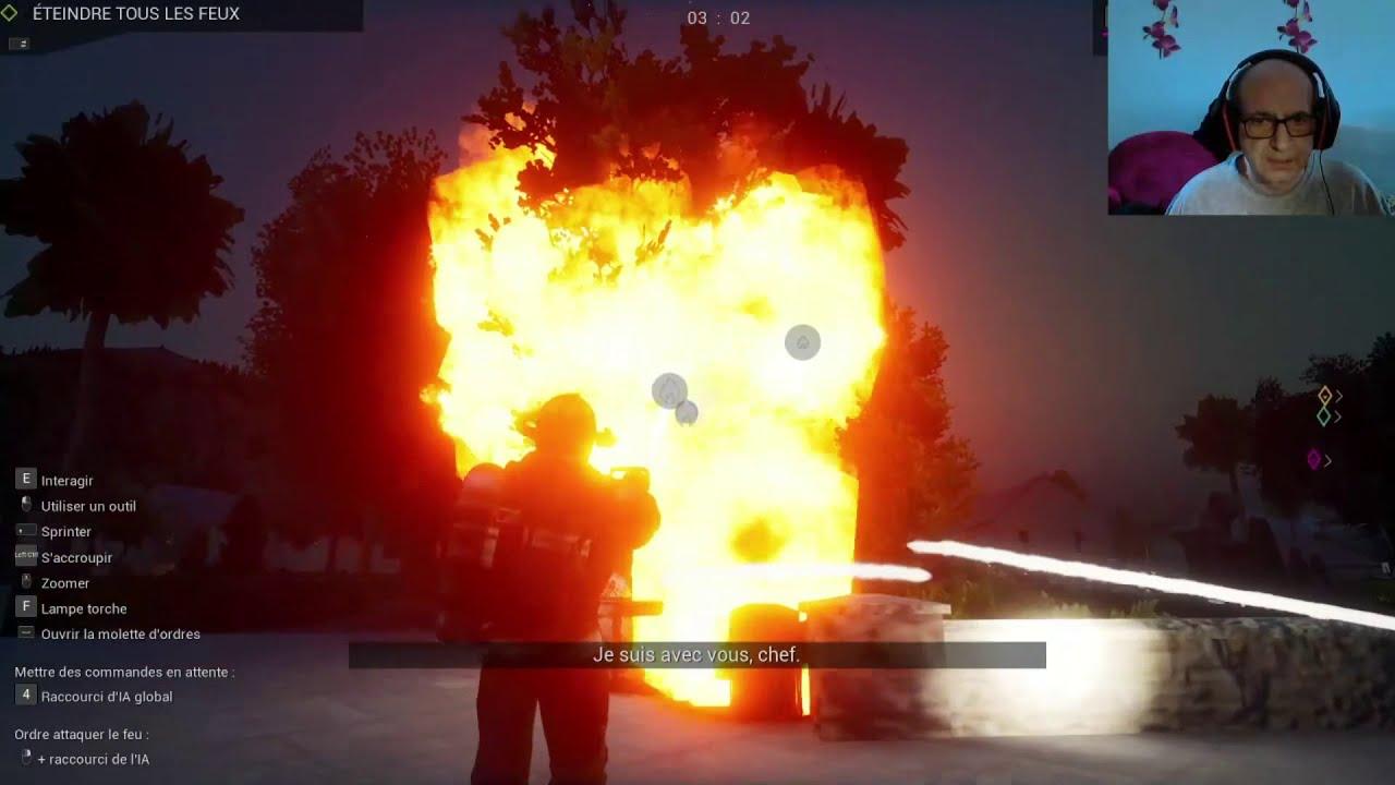 grand feu dans le parc sur le jeu firefighting simulator