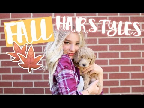 CUTE AND EASY FALL HAIRSTYLES FOR MEDIUM HAIR!