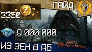 Как заработать АБ на Зенах? лайфхак в 15м модуле игра Neverwinter