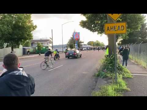 Portland Police video of driver and protestors 6/13