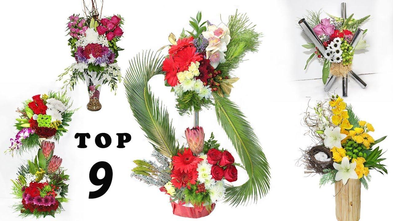 Top 9 Different Type Of Flower Vase Arrangements Flowers Bouquet Arrangement Tutorial Youtube
