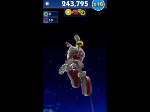 Sonic Dash Amy Gameplay