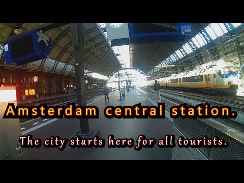 spy cam   Centraal station.   Amsterdam .  The Netherlands.