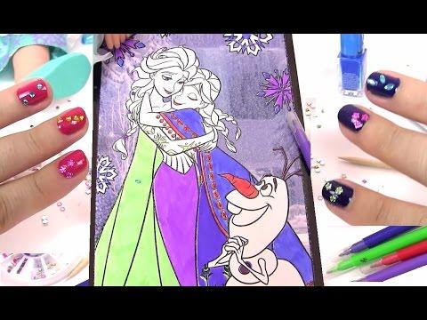 Игры для Девочек. Красим Ногти. Рисуем Постер Холодное Сердце. Принцессы Диснея. Развивающие Игры