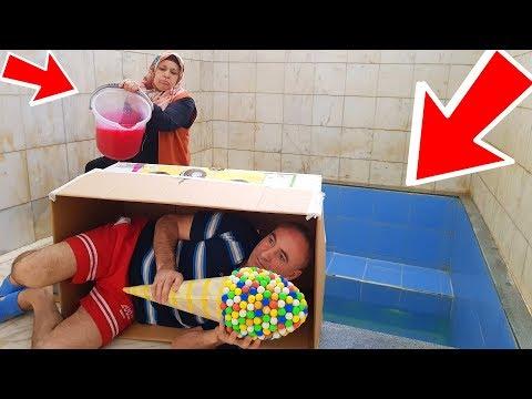 İn The Pool Slime PRANK Super Candy Onto! KOCAMAN Kova Dolusu SLİME'I Havuzun İçinde Kerem Dev Şeker
