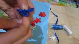 Как легко сделать цветы из атласной ленты!
