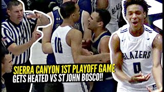Sierra Canyon 1st Round Playoff Game GETS HEATED!! INSANE Poster Dunk Gets EVERYONE CRAZY HYPE!