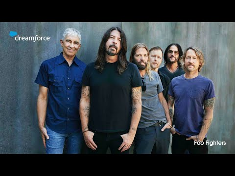 Mascots and FooFighters at Dreamforce21   Salesforce