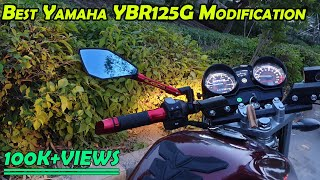 Best Modification Yamaha YBR125G 2018 || Best Modified YBR || Cost Detail || Comfort Rides