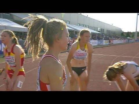 Girls 400m at U18 European Champ - Győr 2018