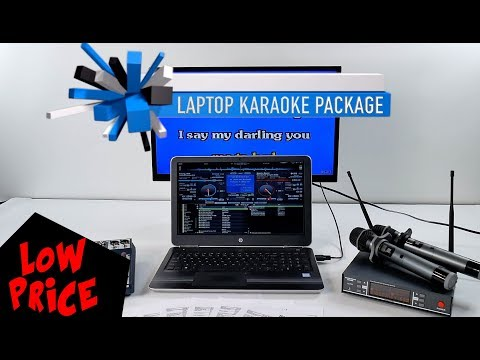 Laptop Karaoke Package | SoundCraft Mixer | BEST Microphones with 1,000 FREE SONGS