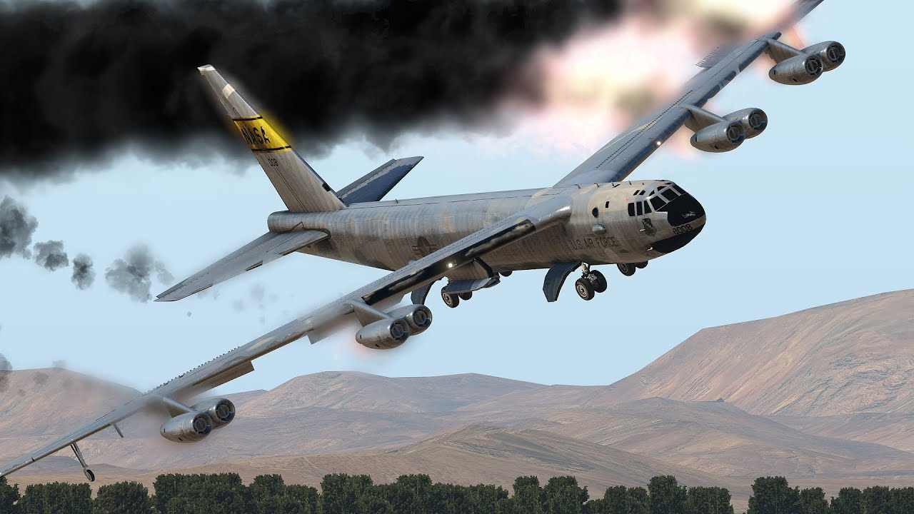 B-52 Bomber Emergency Landing After Engines Explosion   XP11 - YouTube