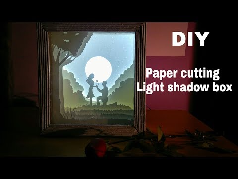How to make paper cutting light shadow box