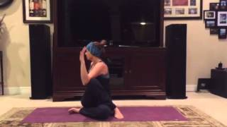 Seated Spinal Twist with Bind