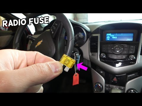 CHEVROLET CRUZE RADIO FUSE LOCATION REPLACEMENT. INFORMATION SCREEN RADIO NOT WORKING