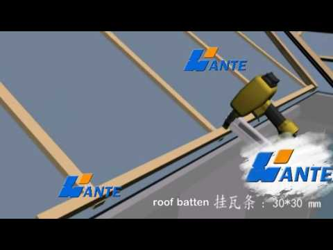 stone coated roof tile installation process