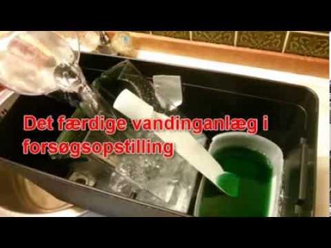 Rask Næsten gratis automatisk vandingsanlæg til drivhuset - YouTube XN-06