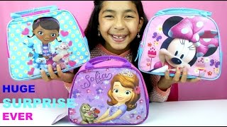 doc mcstuffins sofia the first and minnie mouse surprise lunch boxes b2cutecupcakes