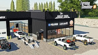 WELCOME TO THE BRAAP SHOP! (BUILDING A POWERSPORTS STORE) | FARMING SIMULATOR 2019
