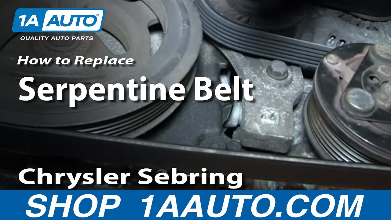 how to install replace engine ac alternator serpentine belt 2 7l chrysler sebring youtube [ 1920 x 1080 Pixel ]