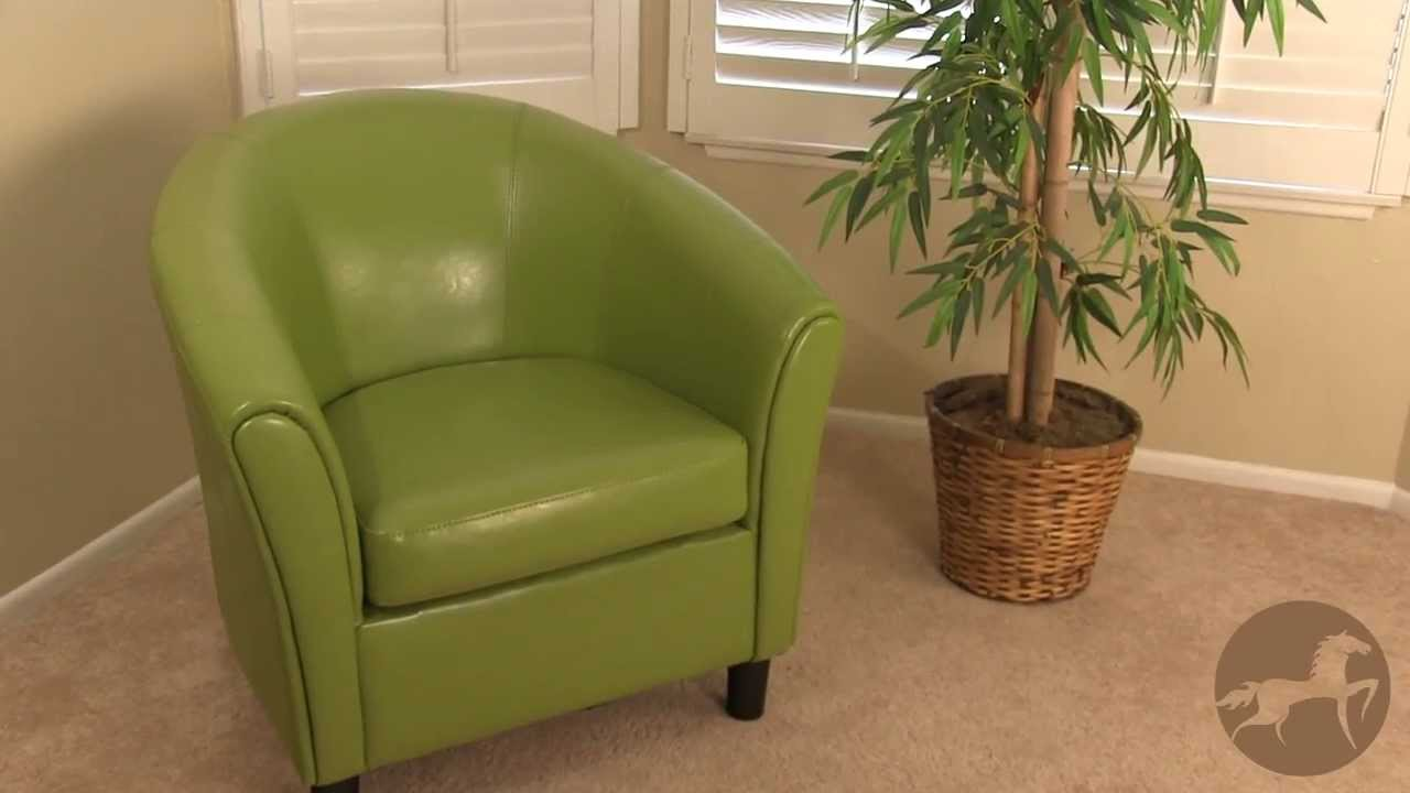Napoli Leather Club Chair (Brown, Teal, Lime Green, And More Funky Bright  Colors)