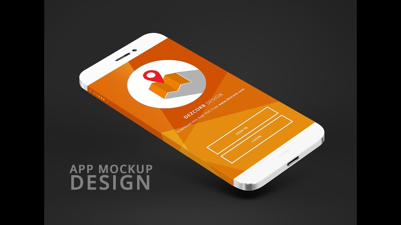 how to design app mockup in photoshop cc app mokcup tutorial 2